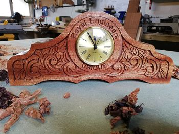 Royal Engineers Clock Sapele/Tulip